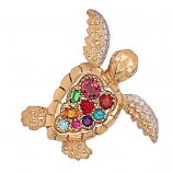 """Romancing the Stones"" Turtle Pendant"