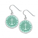 Sterling Anchor Earrings
