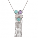 **NEW**  Sterling Cha Cha Necklace