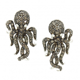 Sterling Octopus Earrings