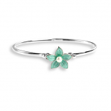 Sterling Stephanotis Flower Bangle Bracelet