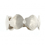 Scallop Band Ring with Diamond