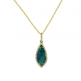 Diamond and Opal Necklace
