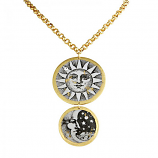 """Sun and Moon"" Necklace by Evocateur"