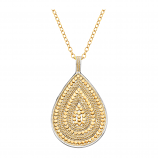 Sterling and Vermeil Teardrop Necklace