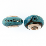 Sterling and Glass Sanibel Bead