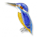 Sterling Kingfisher Brooch
