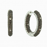 Sterling Inside Out Hoops