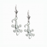 Sterling Gecko Earrings