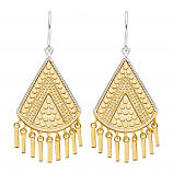 Sterling and Vermeil Fringe Earrings