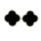 Sterling & Onyx Earrings