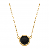 Sterling and Vermeil Black Onyx Necklace