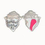 Sterling and Enamel Sanibel Conch Shell Bead