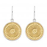 Sterling and Vermeil Disk Earrings