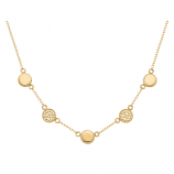 Sterling and Vermeil Multi Disk Necklace