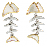 Sterling Fishbone Earrings