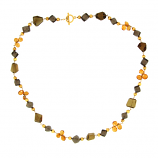 Citrine and Smokey Quartz Necklace