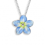 Sterling Forget-Me-Not Flower Necklace