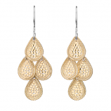 Sterling Vermeil Chandelier Earrings