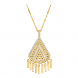 Sterling and Vermeil Fringe Necklace