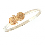 Sterling and Gold Shell Bracelet