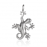 Sterling Gecko Pendant