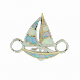 Sterling Sailboat Bracelet Topper