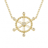 Diamond Ship's Wheel Necklace