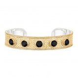 Sterling and Vermeil Black Onyx Cuff