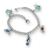 Sterling Sealife Charm Bracelet