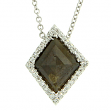 Rough Diamond Slice Necklace