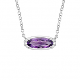**NEW**      Amethyst and Diamond Necklace