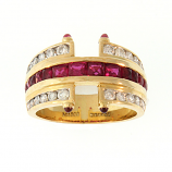 Estate Diamond and Ruby Ring