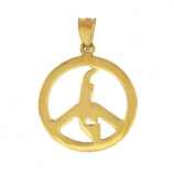 Sanibel Island Peace Sign Pendant
