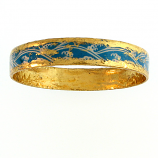 """Blue Tide"" Bangle by Evocateur"