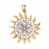 Large Filigree Sun Pendant