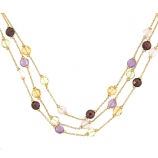 Triple Strand Gemstone Necklace