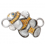 Sterling Clownfish Bracelet Topper