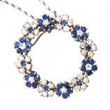 Estate Sapphire and Diamond Necklace