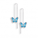 Sterling Butterfly Threader Earrings