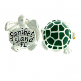 Sterling and Enamel Sanibel Turtle Bead