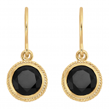 Sterling and Vermeil Black Onyx Earrings