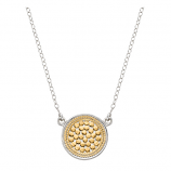 Sterling Vermeil Disk Necklace