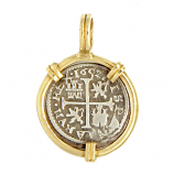 Spanish Half Reale Coin Pendant