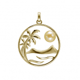 Palm and Sun Pendant