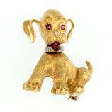 Estate Dog Pin / Pendant