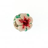 Sterling and Enamel Hibiscus Bead