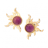Amethyst Sun Earrings