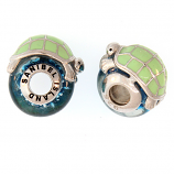 Sterling and Glass Turtle Bead