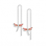Sterling Dragonfly Threader Earrings